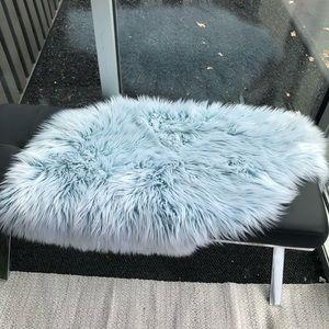 Other - Vegan Faux Sheepskin Small Rug Seabreeze Blue